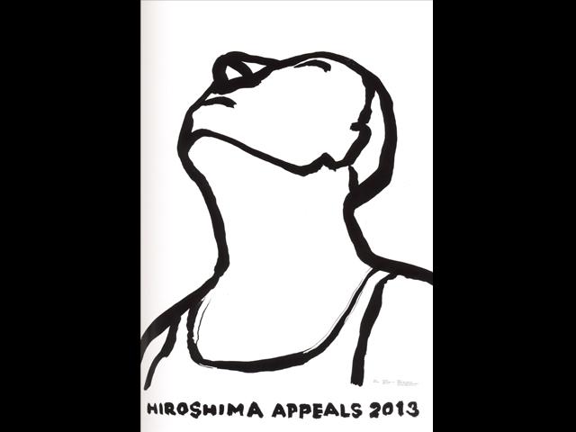 "Kaoru Kasai, manifesto per ""Hiroshima appeals"", 2013"