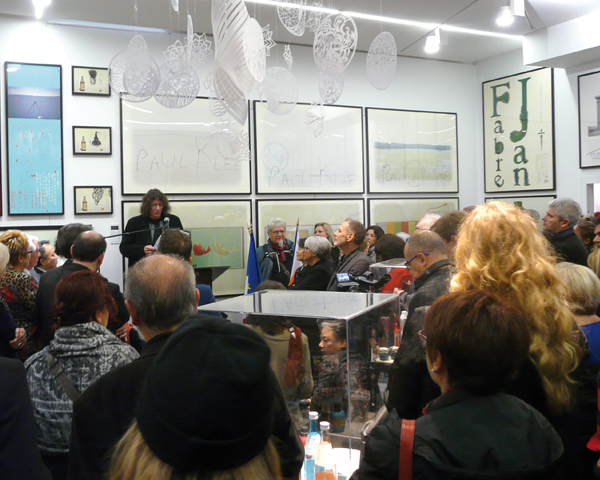 Il discorso di Michel Bouvet all'inaugurazione del Centre du Graphisme